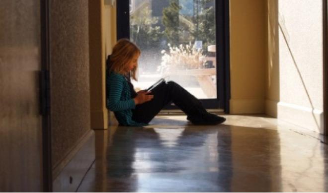 Girl in hallway